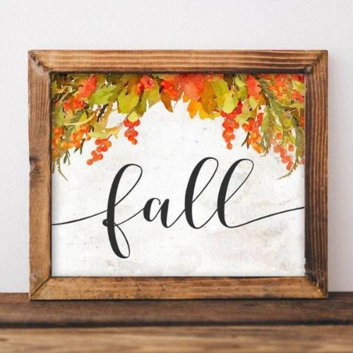 Fall - Printable - Printable Digital Download Art by Gracie Lou Printables