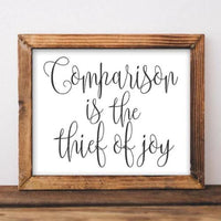Comparison - Printable - Printable Digital Download Art by Gracie Lou Printables