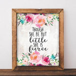 She is Fierce - Printable - Printable Digital Download Art by Gracie Lou Printables