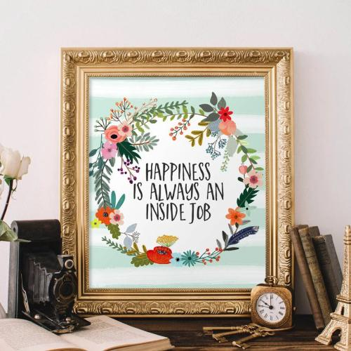 Happiness is Always an Inside Job - Printable - Gracie Lou Printables