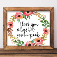 Bushel and a Peck - Printable - Printable Digital Download Art by Gracie Lou Printables