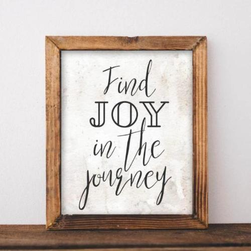 Joy in the Journey - Printable - Printable Digital Download Art by Gracie Lou Printables