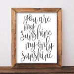 You are my sunshine my only sunshine - Printable Nursery Wall Decor - Gracie Lou Printables