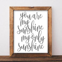 Sunshine - Printable - Printable Digital Download Art by Gracie Lou Printables