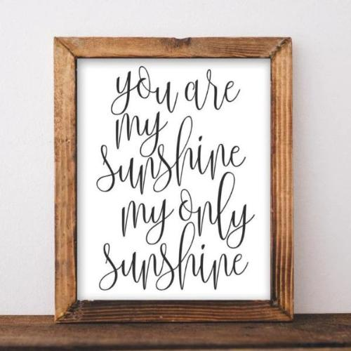 Sunshine - Printable - Gracie Lou Printables