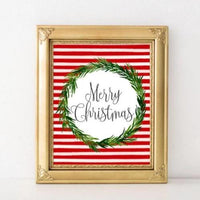 Merry Christmas - Printable - Printable Digital Download Art by Gracie Lou Printables