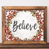 Believe - Christmas Printable - Printable Digital Download Art by Gracie Lou Printables
