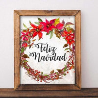 Feliz Navidad - Printable - Printable Digital Download Art by Gracie Lou Printables