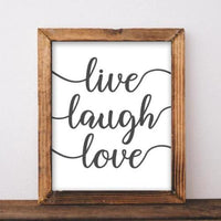 Live Laugh Love - Printable - Printable Digital Download Art by Gracie Lou Printables