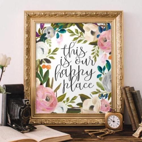 This is Our Happy Place - Printable - Printable Digital Download Art by Gracie Lou Printables