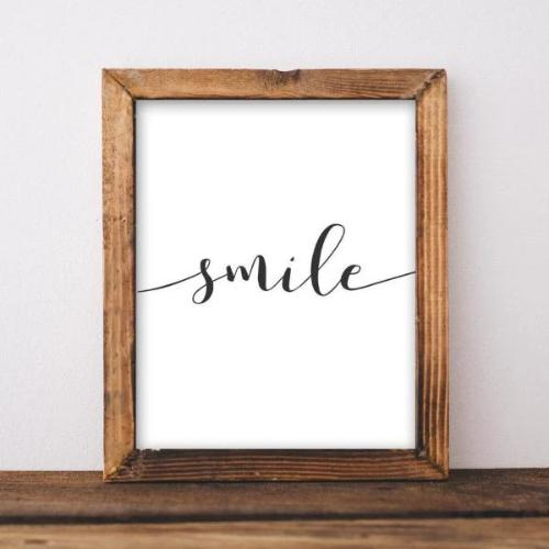 Smile - Printable - Printable Digital Download Art by Gracie Lou Printables