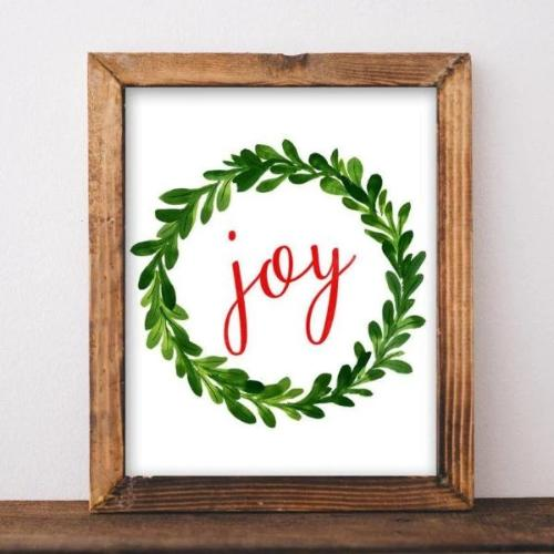 Joy - Christmas Printable - gracie-lou-printables