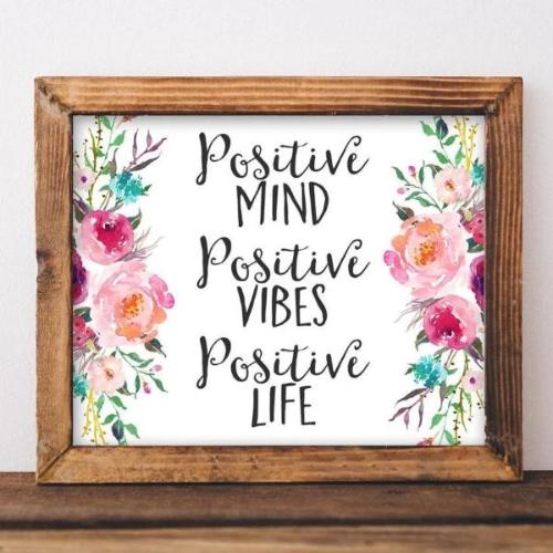 Positive Life - Printable - Printable Digital Download Art by Gracie Lou Printables