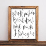 You'll Never Know - Printable - Printable Digital Download Art by Gracie Lou Printables