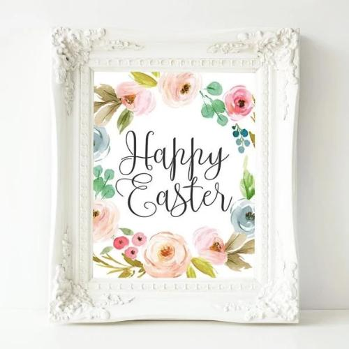 Happy Easter - Printable - Gracie Lou Printables