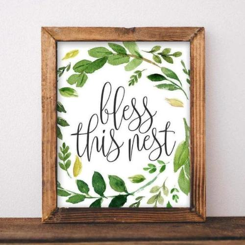 Bless this nest - Printable - Gracie Lou Printables