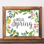 Hello Spring - Printable - Printable Digital Download Art by Gracie Lou Printables