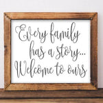 Every Family - Printable - Printable Digital Download Art by Gracie Lou Printables