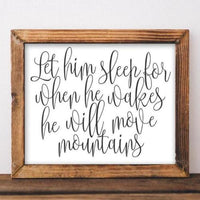 Let Him Sleep - Printable - Printable Digital Download Art by Gracie Lou Printables
