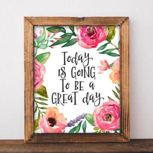 Great Day - Printable - Printable Digital Download Art by Gracie Lou Printables