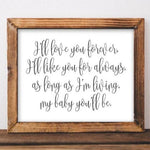 Love You Forever - Printable - Gracie Lou Printables