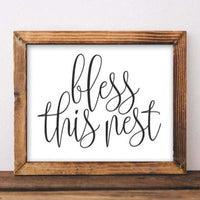 Bless This Nest - Printable - Printable Digital Download Art by Gracie Lou Printables