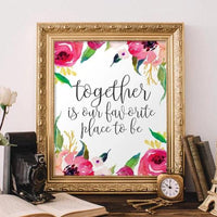 Together is Our Favorite Place to Be - Printable - Printable Digital Download Art by Gracie Lou Printables