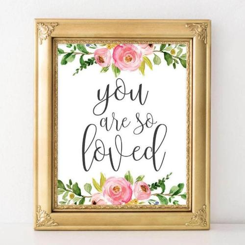 You Are So Loved - Nursery Printable - Printable Digital Download Art by Gracie Lou Printables