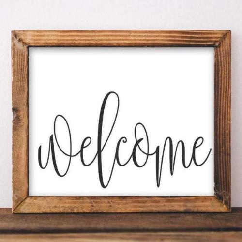 Welcome - Printable - Printable Digital Download Art by Gracie Lou Printables