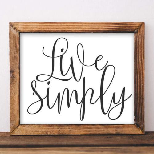 Live Simply - Printable - Printable Digital Download Art by Gracie Lou Printables