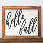Hello Fall - Printable - Printable Digital Download Art by Gracie Lou Printables