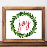 Christmas Printable Art Joy printable Merry Christmas Print Christmas art Christmas home decor Christmas Wall art Noel Santa Christmas sign - Gracie Lou Printables