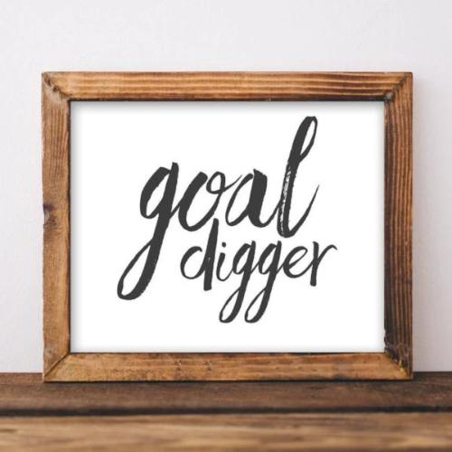Goal Digger - Printable - Printable Digital Download Art by Gracie Lou Printables
