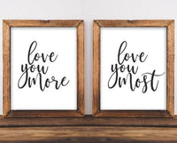 Love You More, Most - Printable - Gracie Lou Printables