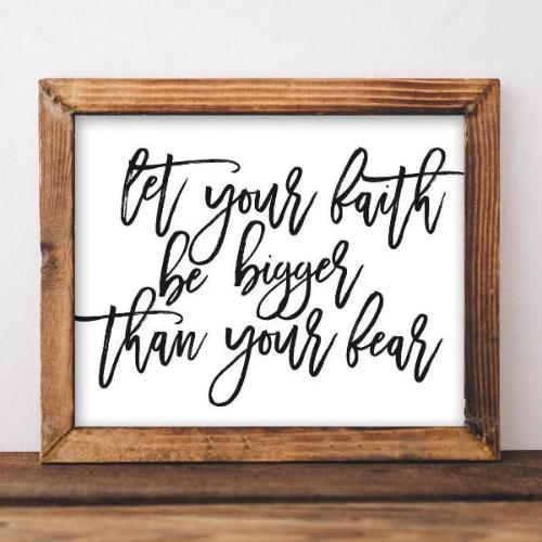 Faith Bigger Than Fear - Printable - Printable Digital Download Art by Gracie Lou Printables