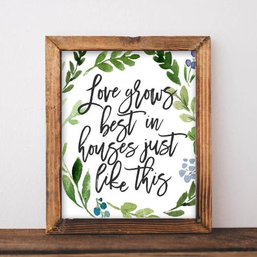 Love Grows Best - Printable - Gracie Lou Printables