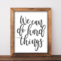 Hard Things - Printable - Gracie Lou Printables