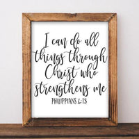 Philippians 4:13 - Printable - Gracie Lou Printables