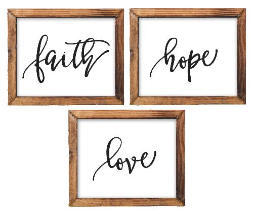 Faith, Hope, Love - Printable - Printable Digital Download Art by Gracie Lou Printables
