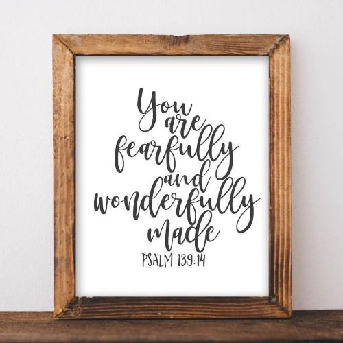 Psalm 139:14 - Printable - Gracie Lou Printables