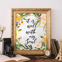 It Is Well With My Soul - Printable - Printable Digital Download Art by Gracie Lou Printables