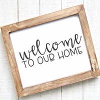 Welcome to Our Home - Printable - Printable Digital Download Art by Gracie Lou Printables