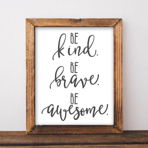 Kind, Brave, Awesome - Printable - Gracie Lou Printables