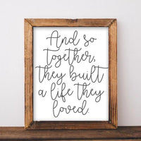 And So Together - Printable - Printable Digital Download Art by Gracie Lou Printables