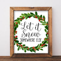 Let it Snow - Printable - Printable Digital Download Art by Gracie Lou Printables