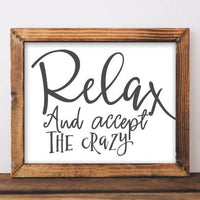 Relax - Printable - Printable Digital Download Art by Gracie Lou Printables