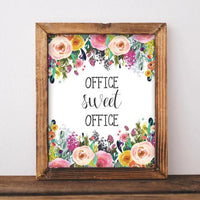 Office Sweet Office decor - Printable - Printable Digital Download Art by Gracie Lou Printables