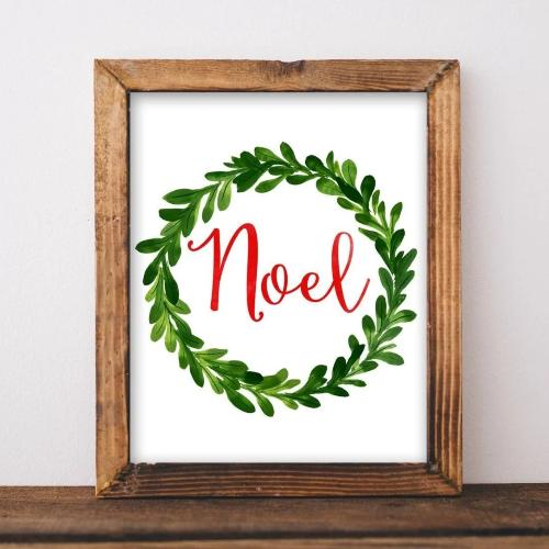Noel - Christmas Printable - Printable Digital Download Art by Gracie Lou Printables