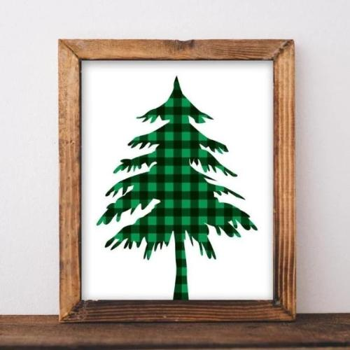 Buffalo Check Tree - Printable - gracie-lou-printables