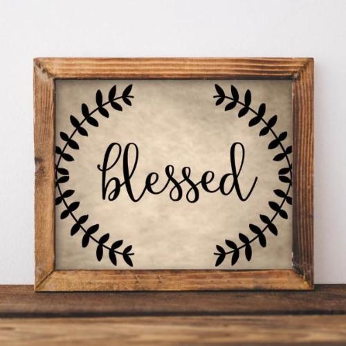 Blessed - Printable - Gracie Lou Printables